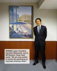 Mosley painting at RESMED Japan's office.