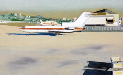 Plane preparing for takeoff at Lindbergh Field.